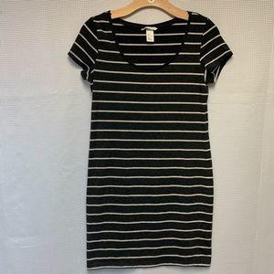 H&M Basic Striped Dress Size M